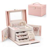 Vlando Jewelry Box, Faux Leather Medium Jewelry Organizer