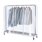 SIWUTIAO Garment Rack Cover,6Ft Transparent PEVA