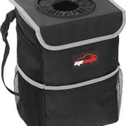 Waterproof Car Trash Can with Lid and Storage Pockets