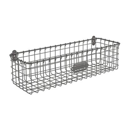 Spectrum Diversified Vintage Basket, Rustic Farmhouse Kitchen Storage