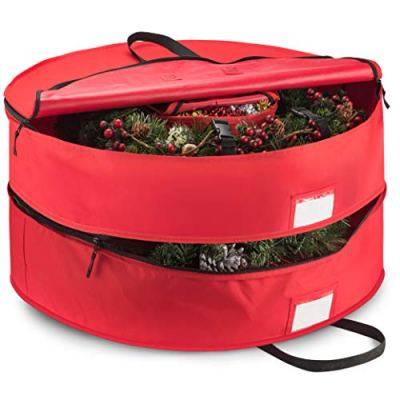 "Duplex Premium Christmas Wreath Storage Bag 36"""