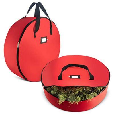 Christmas Wreath Storage Bag Wreaths, Durable Handles