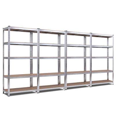 Giantex 4 Pcs 5-Tier Storage Shelves, Garage Shelving Units