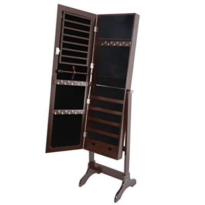 SUPER DEAL 2in1 Free Standing Jewelry Cabinet