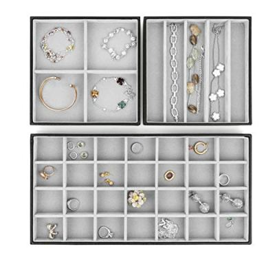 Stock Your Home Stackable Jewelry Trays