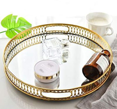 Mirrored Ornate Decorative Tray Jewelry