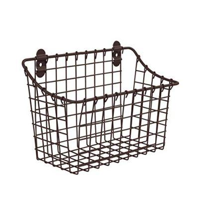 Vintage Large Cabinet & Wall-Mounted Basket for Storage