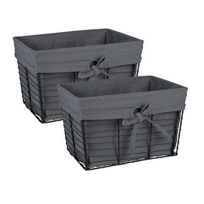 Wire Vintage Storage Baskets with Liner