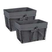 Wire Vintage Storage Baskets with Liner