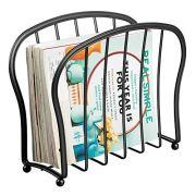 mDesign Decorative Metal Wire Magazine Holder, Organizer