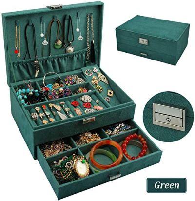 Velvet Large Necklace Jewelry Storage Organizer