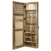SRIWATANA Jewelry Armoire Cabinet, Solid Wood Jewelry