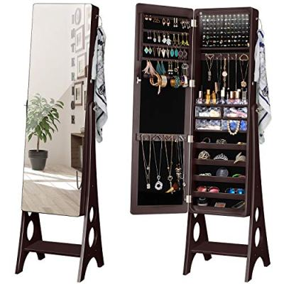 YOKUKINA LED Jewelry Cabinet Armoire