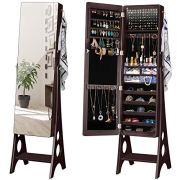 YOKUKINA LED Jewelry Cabinet Armoire