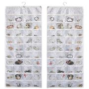 Double Sided Jewelry Storage Organizer with Embossed Pattern