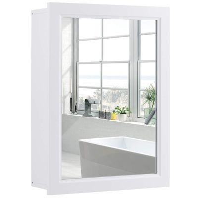 Tangkula Mirrored Bathroom Cabinet, Wall Mount Storage Organizer