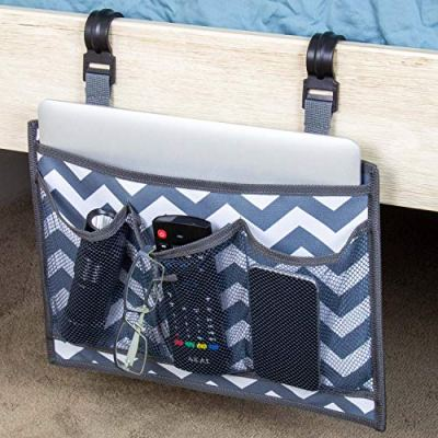 Bedside Caddy - Premium Bed Side Hanging Organizer with Pockets