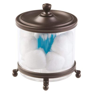 Bathroom Vanity Countertop Divided Storage Canister