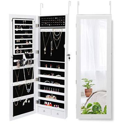 ZENY Jewelry Armoire Jewelry Organizer with Full Mirror