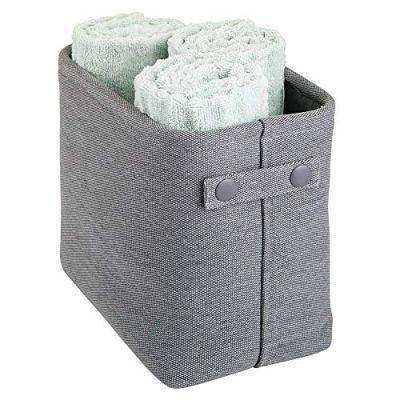 mDesign Soft Cotton Fabric Closet Storage Organizer