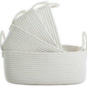 Woven Basket Cotton Rope Bin Organizer for Baby Nursery