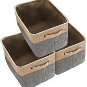 Awekris Large Storage Basket Bin Set [3-Pack] Storage Cube Box