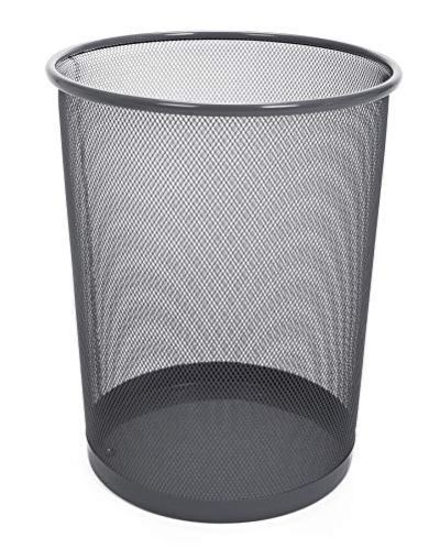 Smart Design Steel Metal Mesh Waste Basket
