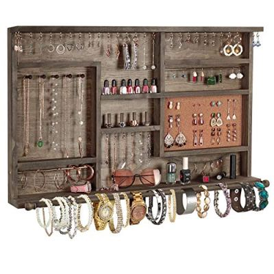Large Rustic Jewelry Organizer Jewelry Cabinet