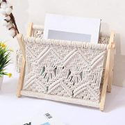 Magazine Holder Storage Basket Organizer Boho