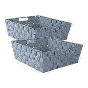 DII Durable Trapezoid Woven Nylon Storage Bin or Basket