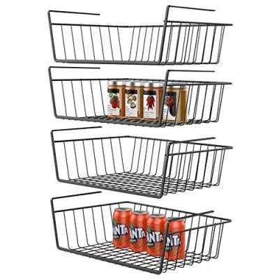 Under Shelf Basket, GSlife 4 Packs Under Shelf Storage