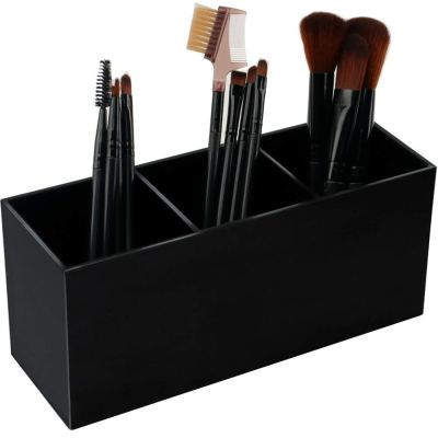 Black Makeup Brush Holder Organizer