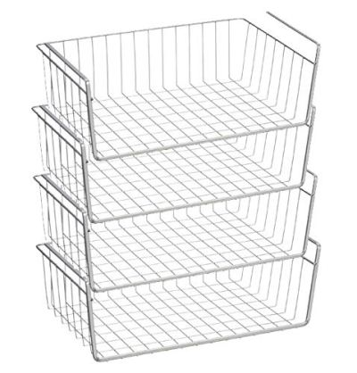 Pantry organization Under shelf storage basket