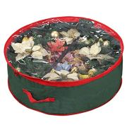 Xmas Wreath Storage Bag with Clear Window for Easy Holiday Storage