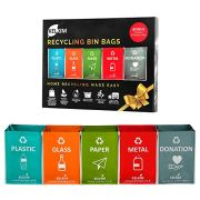 Recycling Bin Bags + Donation Bag for Home Kitchen Office