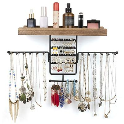 Wall Mounted Rotating Jewelry Holder