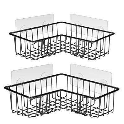 Asija 2-Pack Corner Shower Caddy - Stainless Steel Adhesive Shower