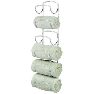 mDesign Modern Decorative Six Level Bathroom Towel Rack Holder & Organizer