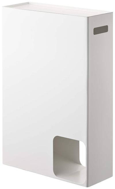 YAMAZAKI home Plate Toilet Paper Stocker – Bathroom Storage Organizer