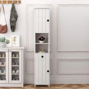 SDHYL 68 Inches Tall Bathroom Cabinets, Free Standing Entryway Console