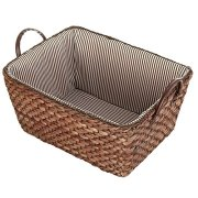 Fabric Lined Double Handle Storage Bin