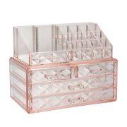 Pink Diamond Pattern Storage Display Cube