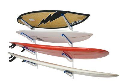 Metal Surfboard Storage Rack, 4 Surf Adjustable Home Wall Mount