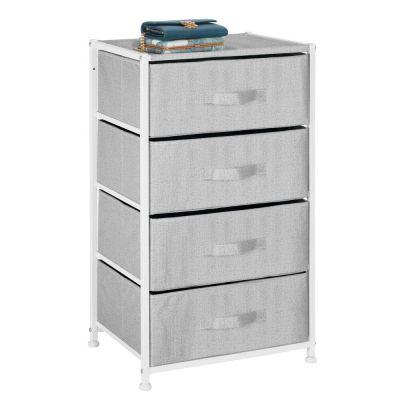 mDesign Vertical Furniture Storage Tower - Sturdy Steel Frame