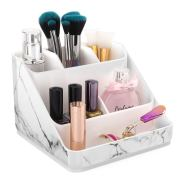 Marble Pattern Cosmetic Storage Organizer Tray