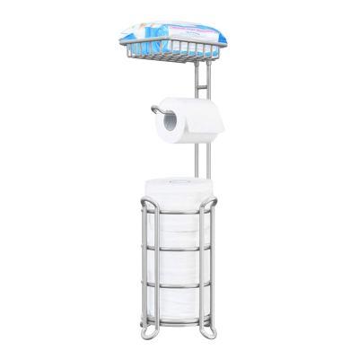 Stand Bathroom Tissue Dispenser Holders Rack