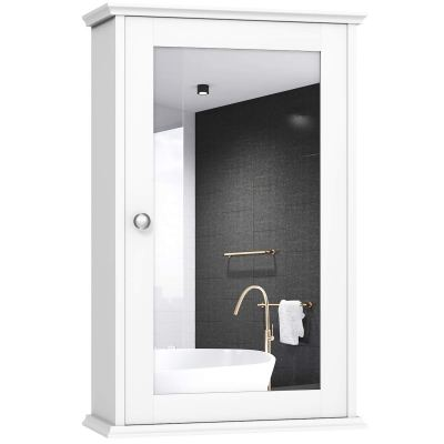 TANGKULA Mirrored Bathroom Cabinet, Wall Mount Storage Cabinet