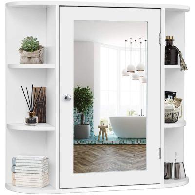 Single Door Wall Mounted Medicine Cabinet with Mirror