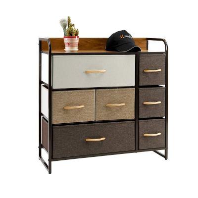 Kamiler 7-Drawer Dresser, 3-Tier Storage Organizer