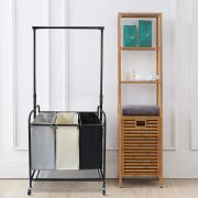 Laundry Hamper Basket with Removable Hanging Bar